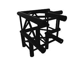 Black truss A290 No. 8287 - 500x500x500 mm - 3-ciest